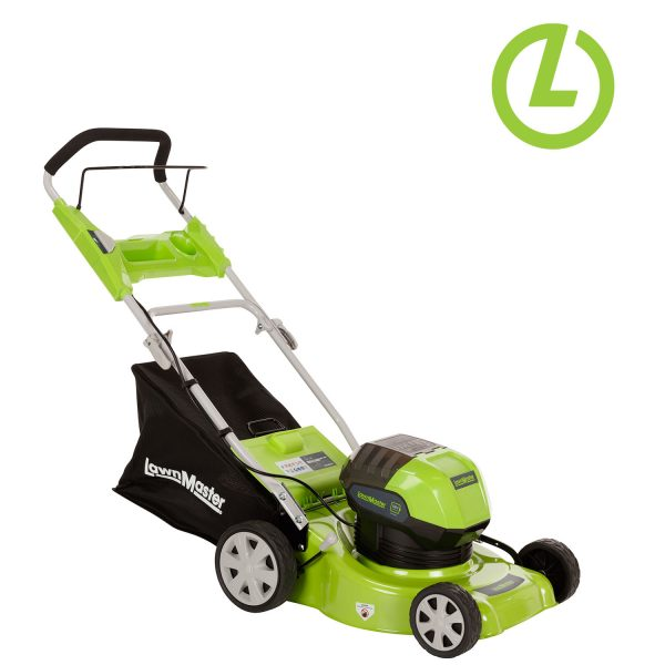 """Lithium 16"""" lawn master, electric power equipment"""